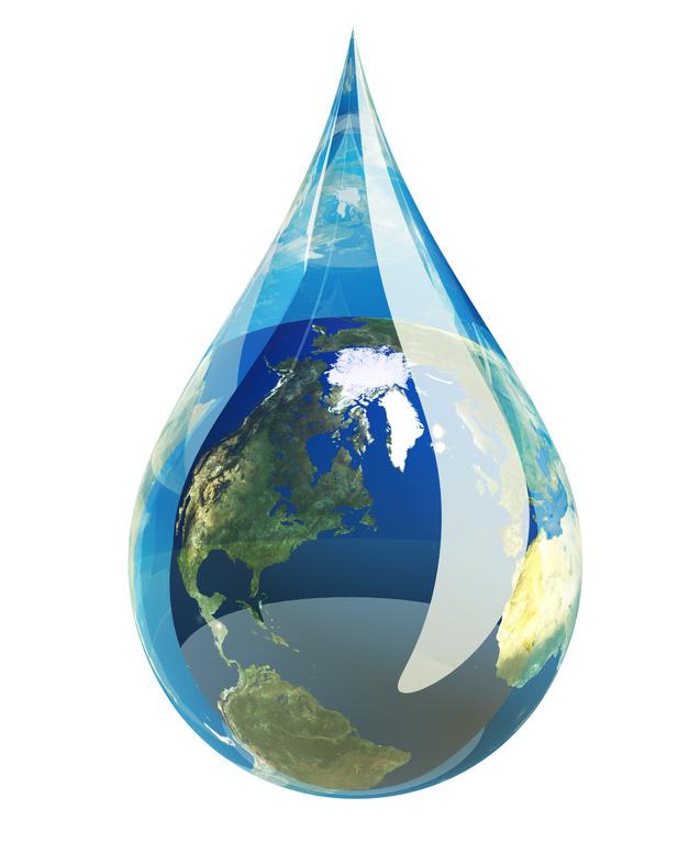 goutte d'eau - Terre