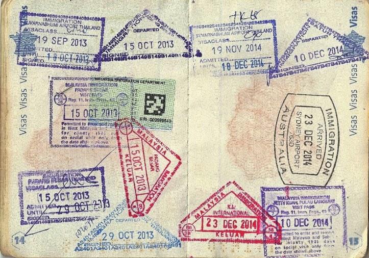 Passeport tamponné